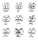 Cartoon face group vector illustration