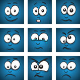 Cartoon face group Stock Photos