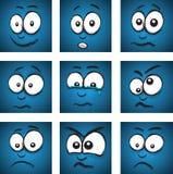 Cartoon face group Stock Photos