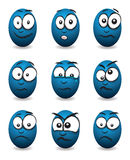 Cartoon face group Royalty Free Stock Photo