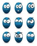Cartoon face group Royalty Free Stock Photo