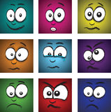 Cartoon face group Royalty Free Stock Photography