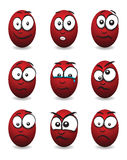 Cartoon face group Stock Image