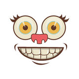 Cartoon face icon Royalty Free Stock Images