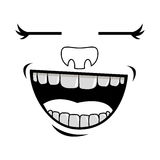 Cartoon face icon Stock Images