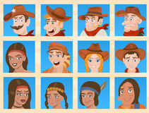 Cartoon face icons Royalty Free Stock Image