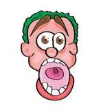 Cartoon face illustration. Vector illustration of a cartoon face Royalty Free Stock Photos