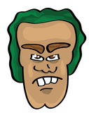 Cartoon face illustration. Vector illustration of a cartoon face Stock Image