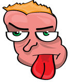 Cartoon face illustration. Vector illustration of a cartoon face Stock Photography