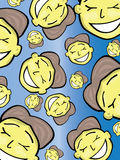 Cartoon face pattern. Vector illustration of a cartoon face pattern Royalty Free Stock Photo