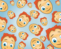 Cartoon face pattern. Vector illustration of a cartoon face pattern Royalty Free Stock Images