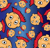 Cartoon face pattern Royalty Free Stock Images