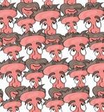 Cartoon face pattern. Vector illustration of a cartoon face pattern Stock Image