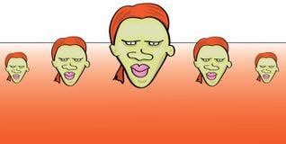 Cartoon face pattern. Vector illustration of a cartoon face pattern Stock Photos