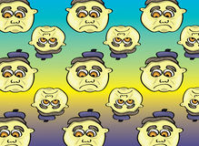 Cartoon face pattern. Vector illustration of a cartoon face pattern Royalty Free Stock Photos