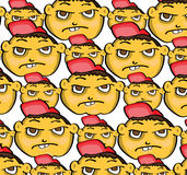 Cartoon face pattern. Vector illustration of a cartoon face pattern Royalty Free Stock Image