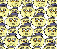 Cartoon face pattern. Vector illustration of a cartoon face pattern Royalty Free Stock Photography