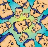 Cartoon face pattern. Vector illustration of a cartoon face pattern Stock Images