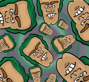 Cartoon face pattern. Vector illustration of a cartoon face pattern Stock Photo