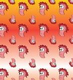 Cartoon face pattern. Vector illustration of a cartoon face pattern Stock Photography
