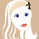 Cartoon face selfie photo. By MrNobody illustrator, these cartoons can be used for commercial purposes and fashion themes Royalty Free Stock Photo