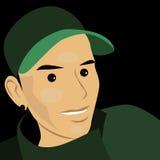 Cartoon face selfie photo  Royalty Free Stock Photo