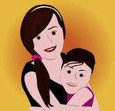 Cartoon face selfie photo. By MrNobody illustrator, these cartoons can be used for commercial purposes and fashion themes Stock Photos