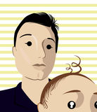 Cartoon face selfie photo. By MrNobody illustrator, these cartoons can be used for commercial purposes and fashion themes Royalty Free Stock Photography