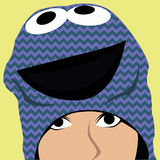 Cartoon face selfie photo. By MrNobody illustrator, these cartoons can be used for commercial purposes and fashion themes Royalty Free Stock Images