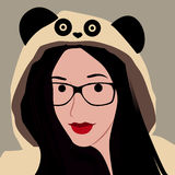 Cartoon face selfie photo. By MrNobody illustrator, these cartoons can be used for commercial purposes and fashion themes Stock Images