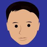 Cartoon face selfie photo. By MrNobody illustrator, these cartoons can be used for commercial purposes and fashion themes Stock Image