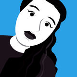 Cartoon face selfie photo. By MrNobody illustrator, these cartoons can be used for commercial purposes and fashion themes Royalty Free Stock Photos