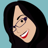 Cartoon face selfie photo. By MrNobody illustrator, these cartoons can be used for commercial purposes and fashion themes Royalty Free Stock Image