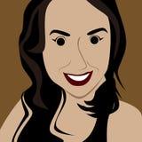Cartoon face selfie photo  Royalty Free Stock Image