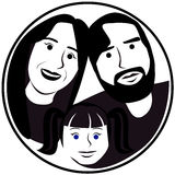 Cartoon face selfie photo  Stock Photography