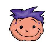 Cartoon face. Vector illustration of a cartoon face Royalty Free Stock Photography