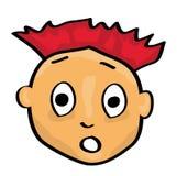 Cartoon face. Vector illustration of a cartoon face stock illustration