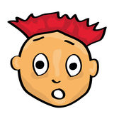 Cartoon face. Vector illustration of a cartoon face Royalty Free Stock Photo