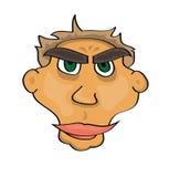 Cartoon face. Vector illustration of a cartoon face illustration stock illustration