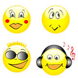 Cartoon faces Royalty Free Stock Image