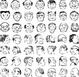 Cartoon faces Stock Photos