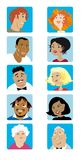Cartoon Faces Collection Royalty Free Stock Photography