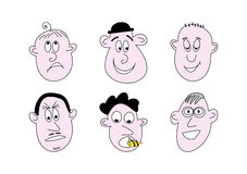 Cartoon faces Royalty Free Stock Photography