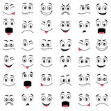 Cartoon faces with different emotions Stock Photography