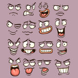 Cartoon faces. With different expressions. Vector clip art illustration with simple gradients. Each on a separate layer Stock Photo