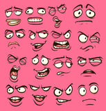 Cartoon faces. With different expressions. Vector clip art illustration with simple gradients. Each on a separate layer Royalty Free Stock Image