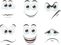 Cartoon faces with emotionsvector Stock Photos