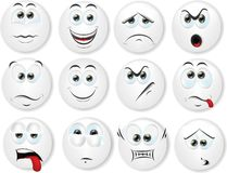 Cartoon faces with emotions,vector Stock Photography