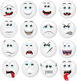 Cartoon faces with emotions,vector Stock Image