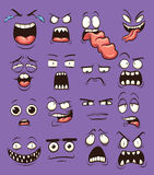 Cartoon faces Stock Image